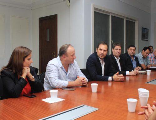 Reunión junto a intendentes cordobeses con el Secretario de Obras Públicas de la Nación